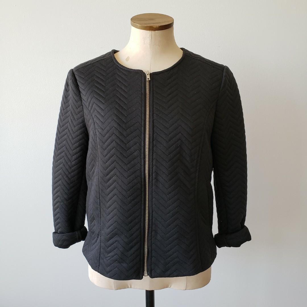 Black Zip Sweater