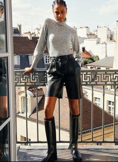 BNWT Aritzia Limerick Leather Shorts