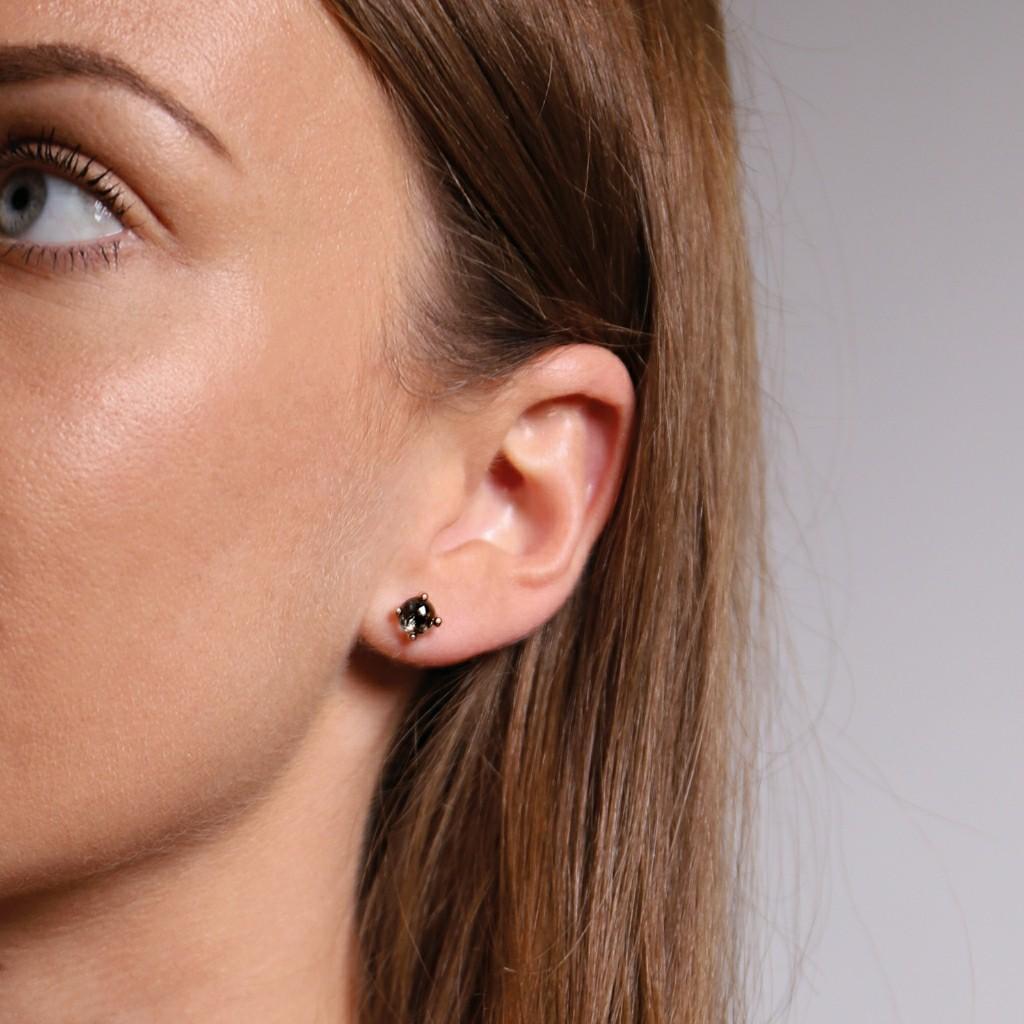 BNWT Rose Gold & Black Stud Earrings