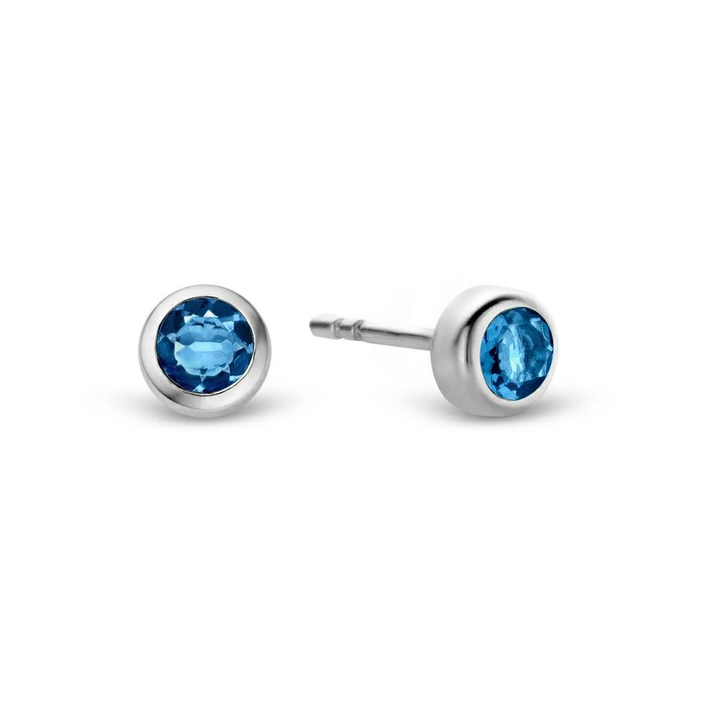 BNWT Sterling Silver & Blue Stud Earrings