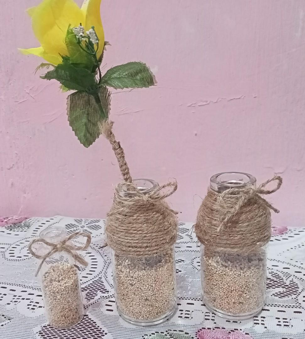 Botol Kaca Hias Vintage vas bunga