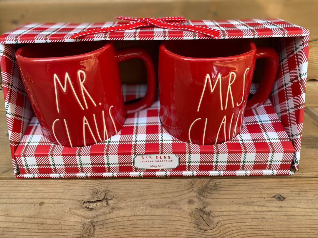 BRAND NEW Rae Dunn CHRISTMAS MUG SET