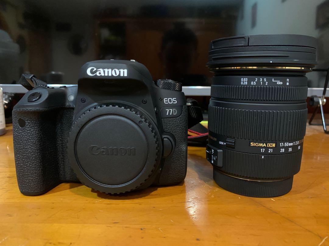 【售】Canon 77D + sigma 1750mm f2.8+可加購永諾50mm f1.8
