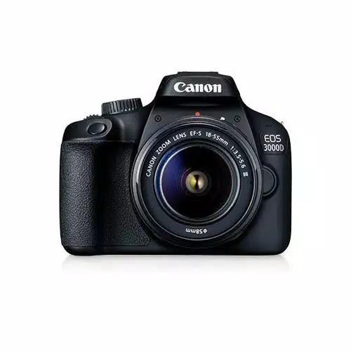 Canon Digital Camera EOS 3000D with lens 18-55mm DC III Black