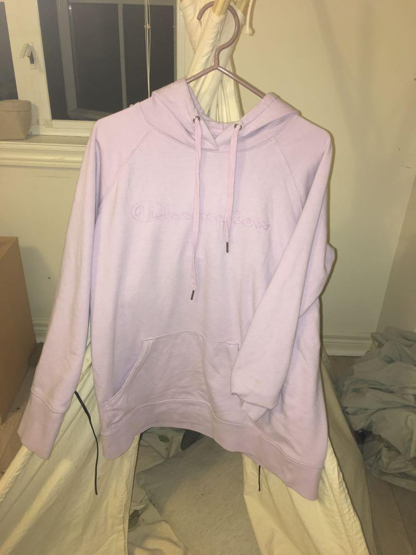Champion Lilac Purple Cotton Sweater Hoodie