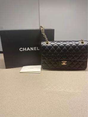 Chanel Double Flap Classic Black and Gold