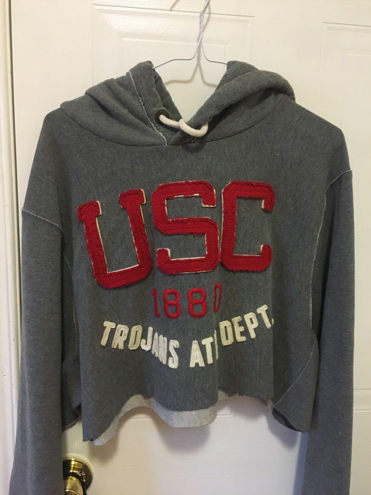 Cropped USC Trojans Hoodie