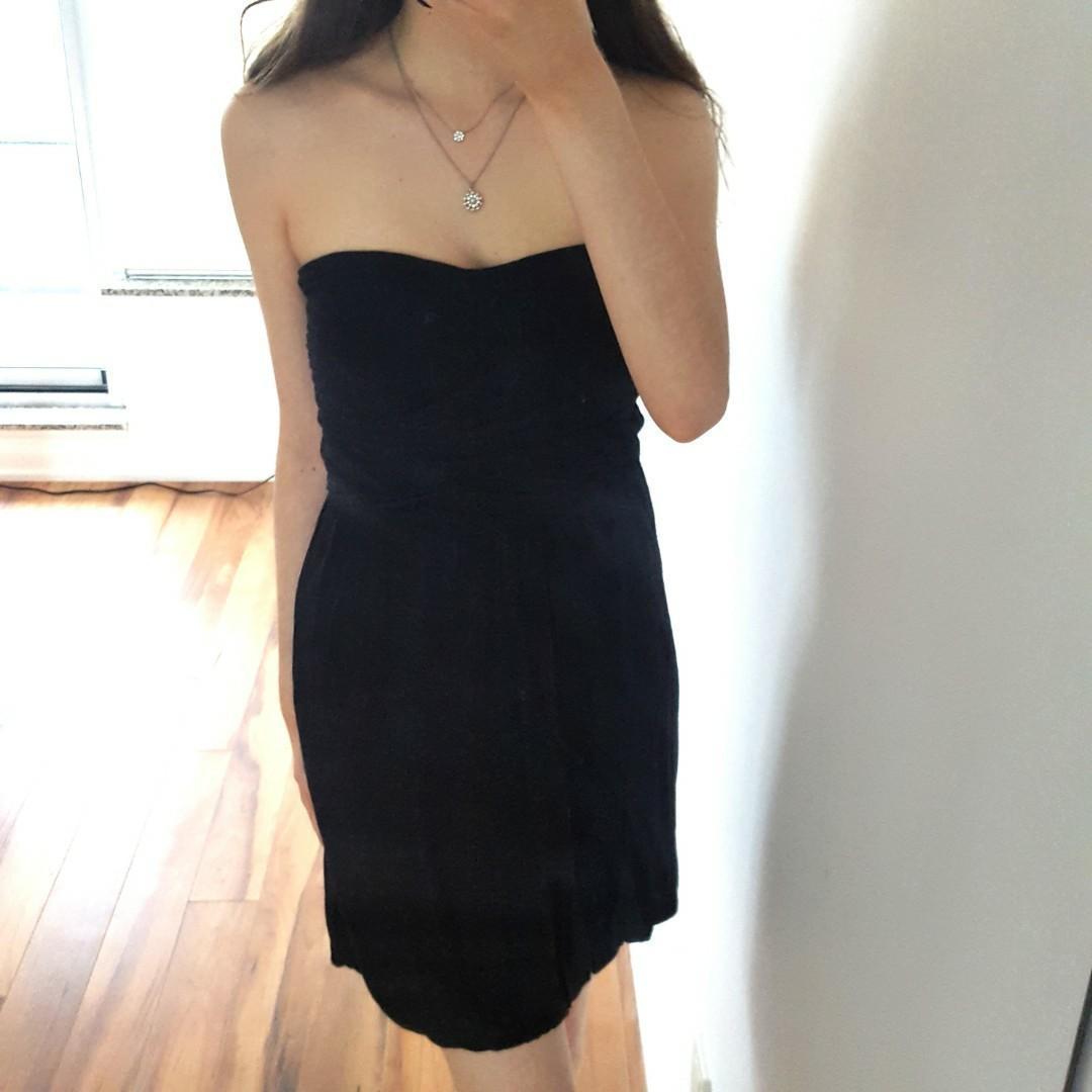Dynamite Black Strapless Dress