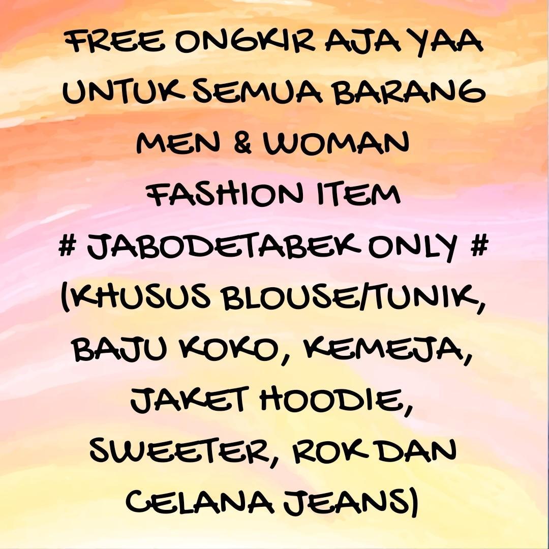 FREE ongkir Jabodetabek dan pulau Jawa