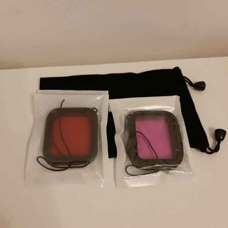 【現貨】Gopro7 Gopro6 Gopro5 濾鏡 紅色 紫色 送袋子 ※限副廠免拆鏡頭防水殼才可以裝濾鏡,原廠不行