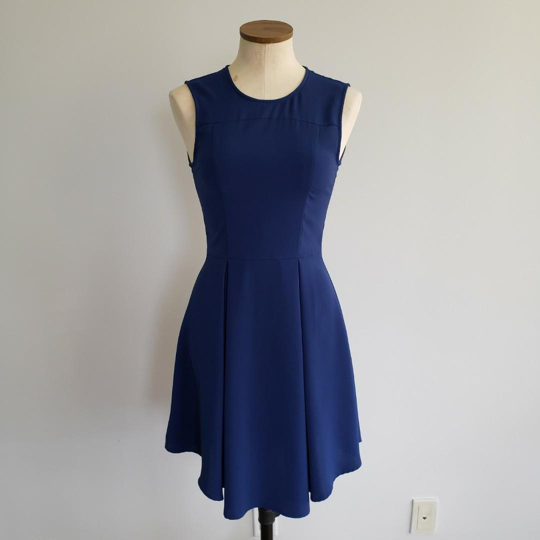 H&M Blue Fit & Flare Dress