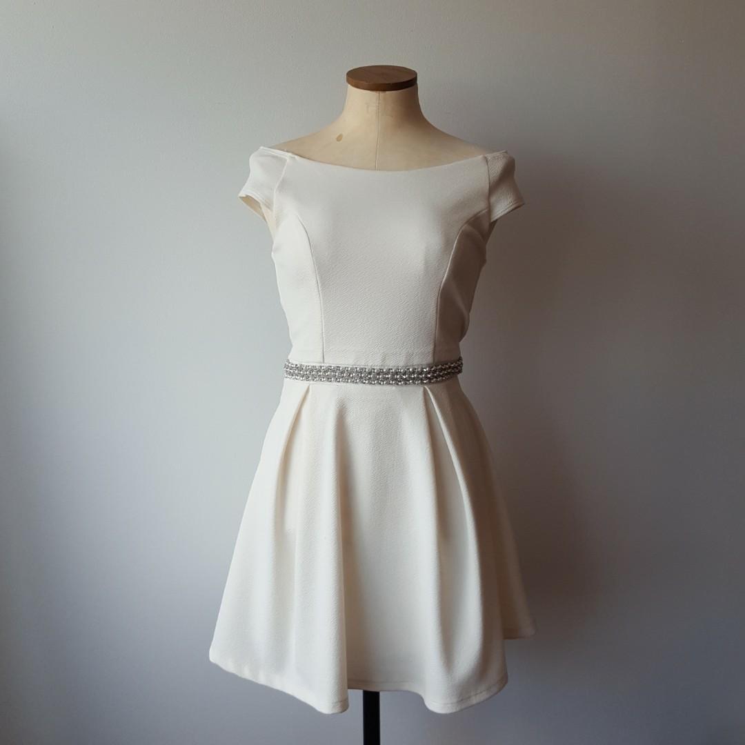 Honey Boutique Cream Dress