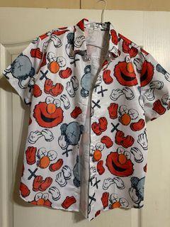 Kaws造型花襯衫