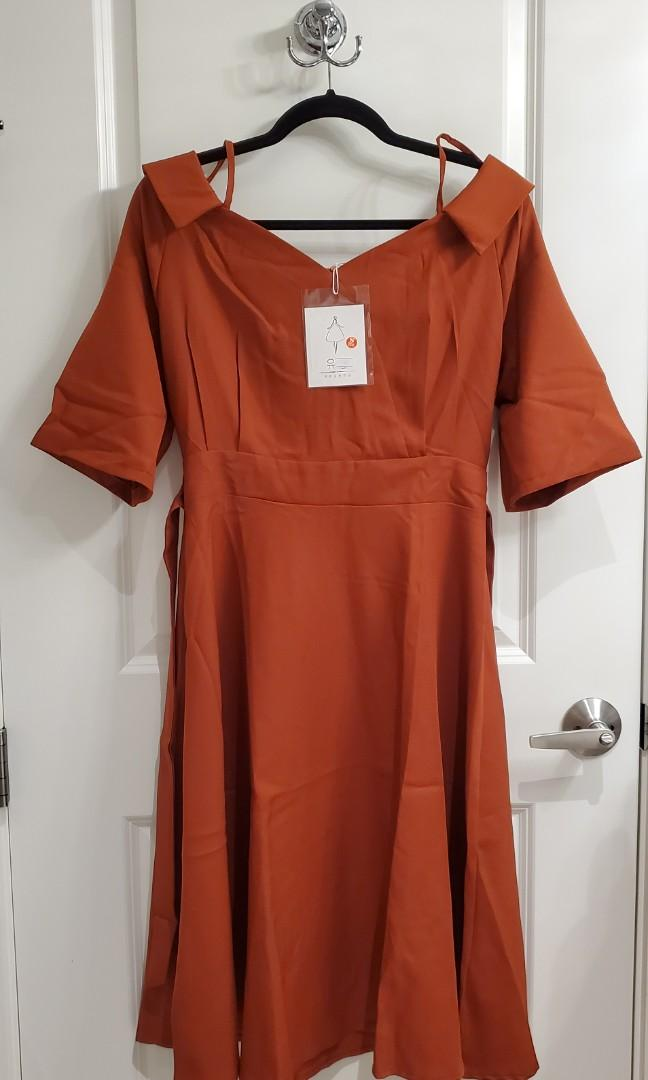 Long Midi Red Dress - Size S