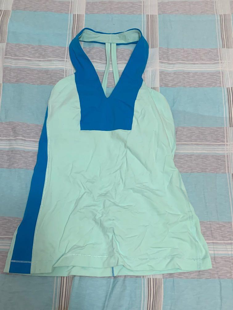 Lululemon top with built in bra: size 4