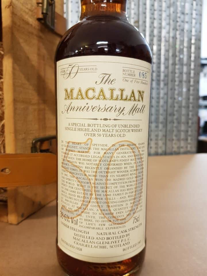 Macallan 50YO 1928 offered for sale
