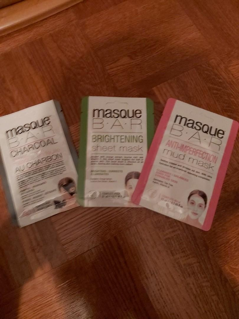 Masque B.A.R Anti Imperfection and Charcoal and Brightening  Mask