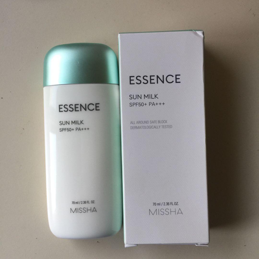 Missha All Around Safe Block Essence Milk SPF50+ PA+++