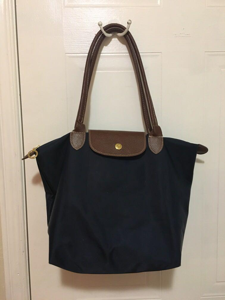 Navy Blue Longchamp Handbag