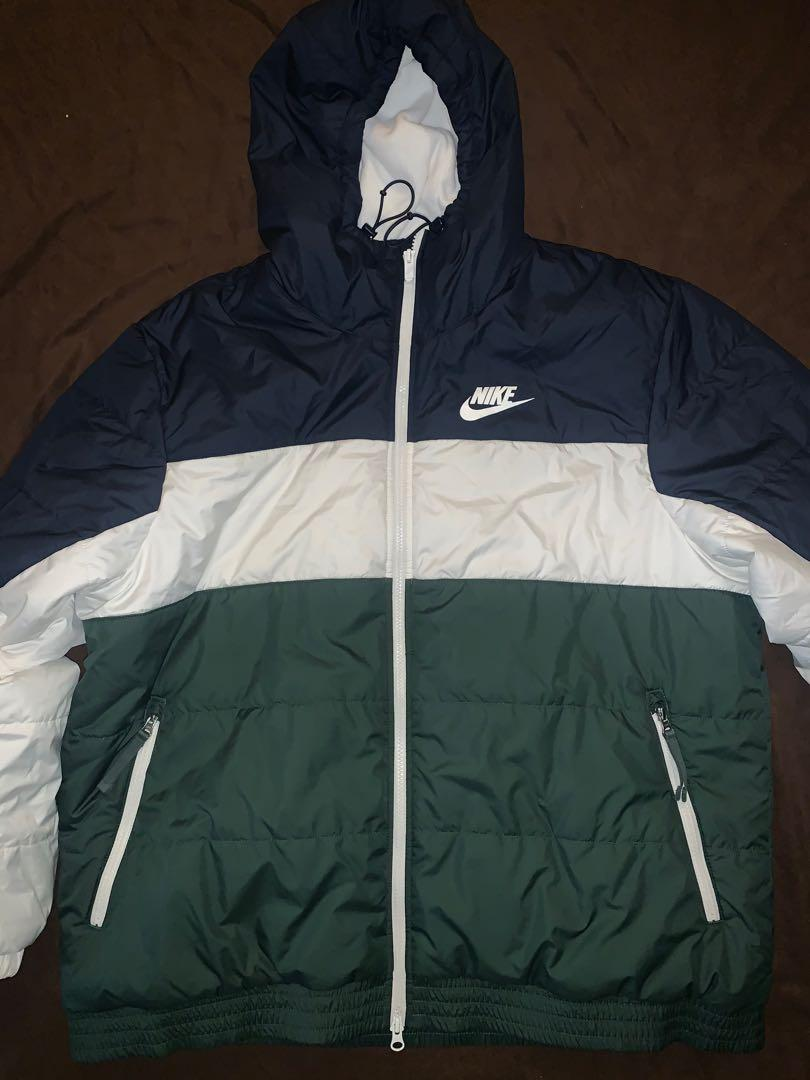 Nike Puffer Jacket XXL (Green, White, Blue)