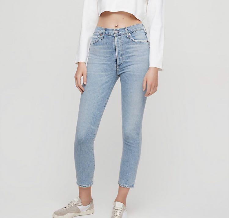 NWT ARITZIA X CITIZENS OF HUMANITY OLIVIA CROP RENEW