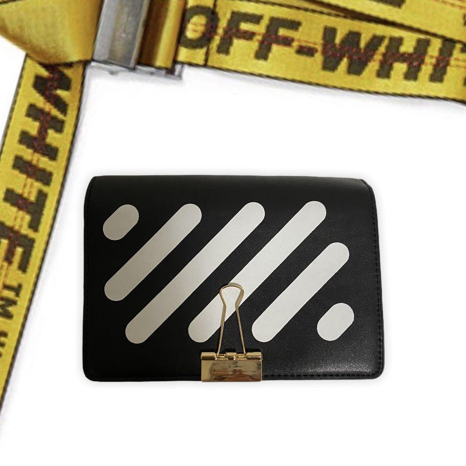 OFF WHITE INSPIRED HANDMADE CLUTCH