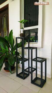 [PROMOSI DEEPAVALI] Industrial Heavy Duty Vase Rack Rak Pasu Hiasan Indoor Outdoor