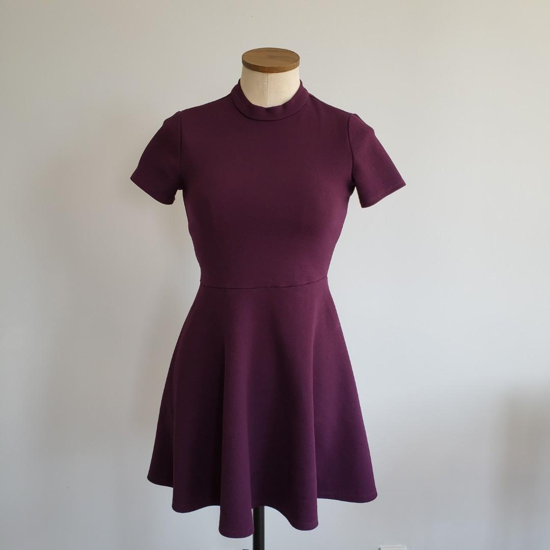 Purple Fit & Flare Dress
