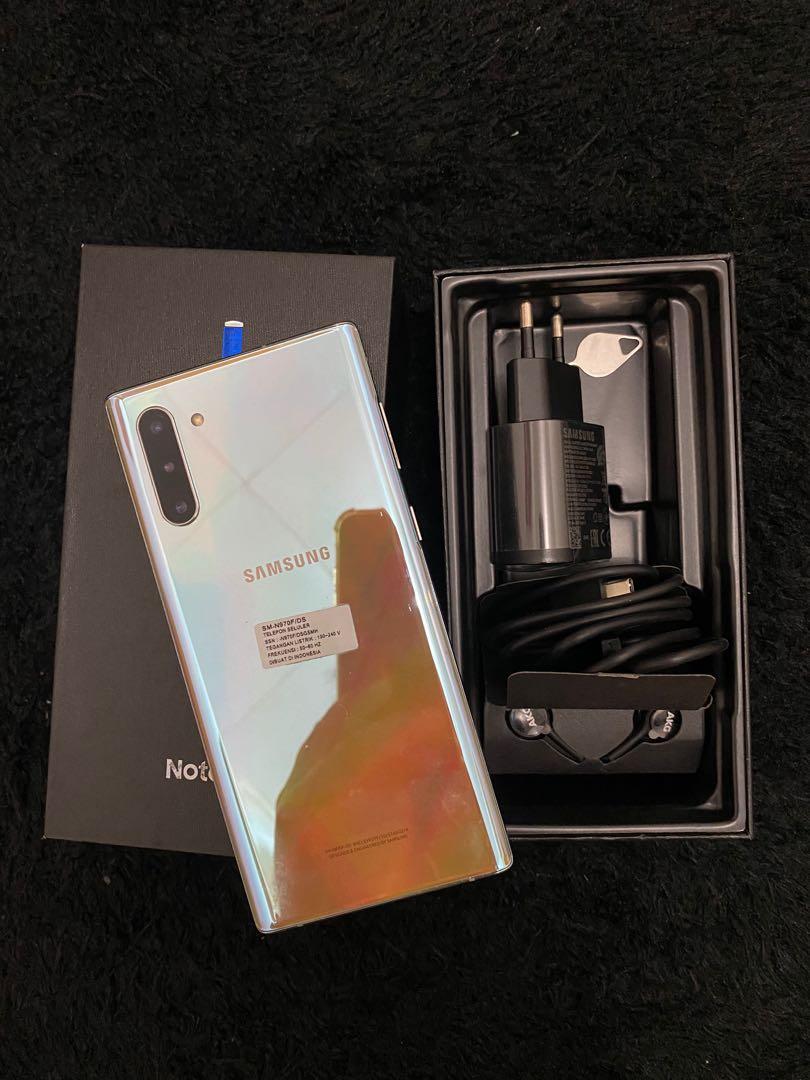 Samsung note 10 aura glow 256Gb Sein duos resmi