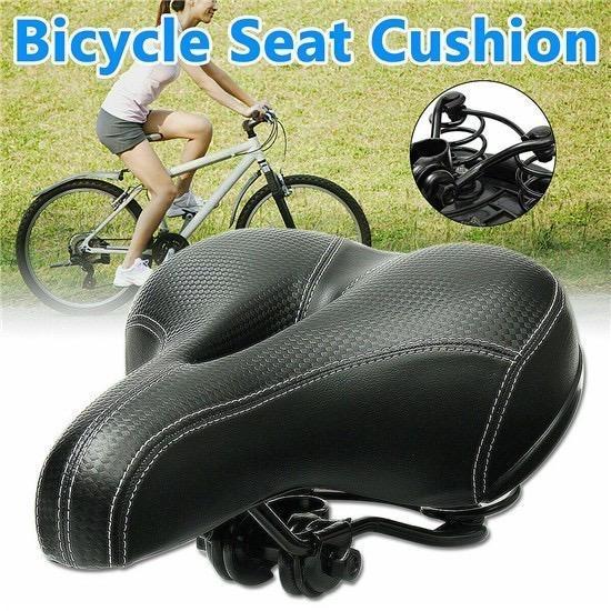 Comfort Wide Bike Saddle Seat Soft Cruiser Cushion Pad Breathable Bicycle Pad