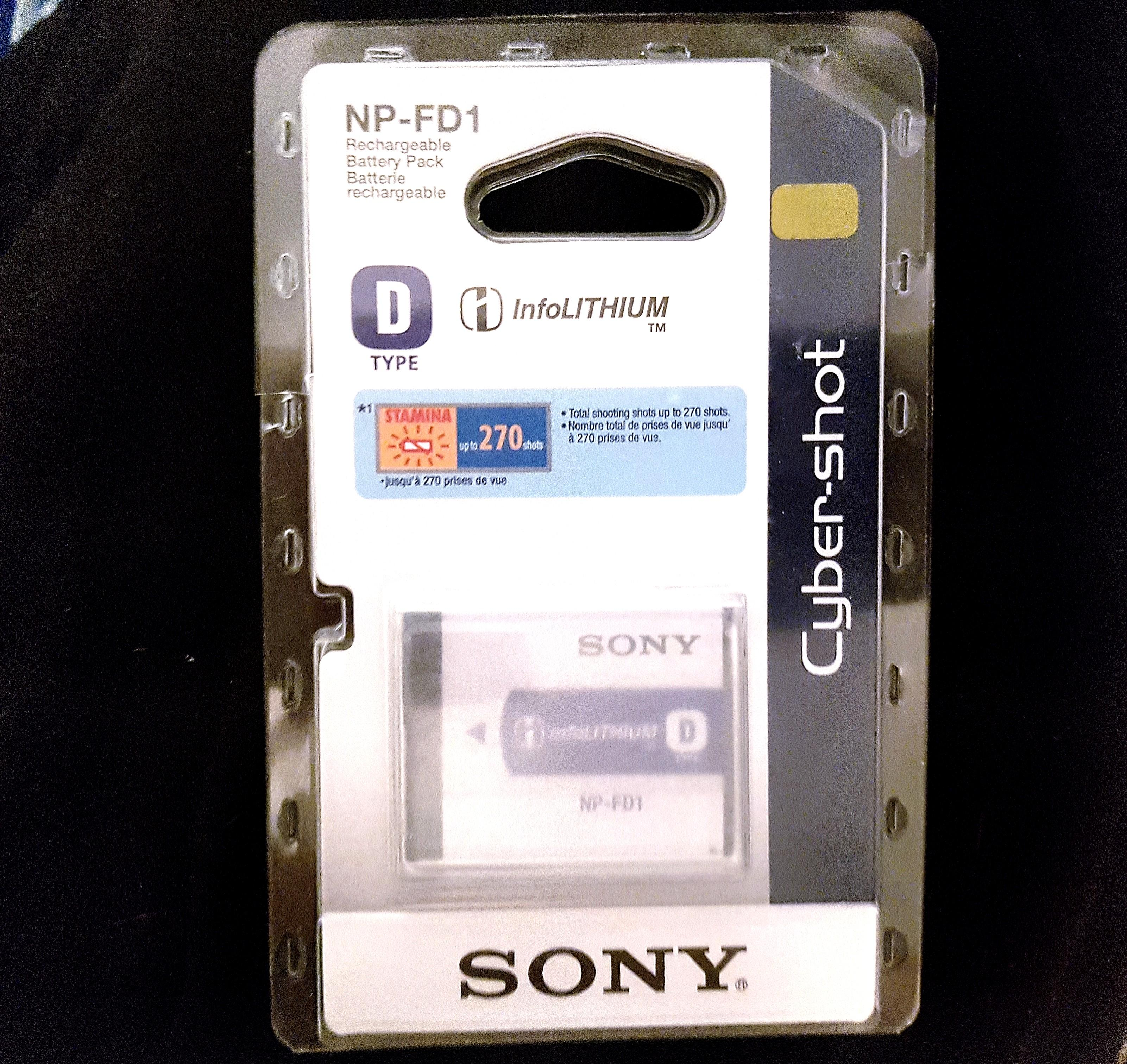 Sony InfoLithium NP-FD1 battery