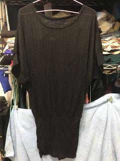 全新 7分袖黑色包臀洋裝