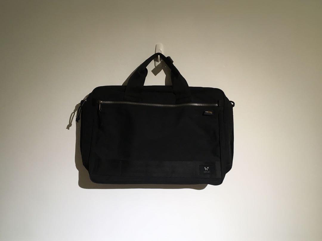 側背/雙肩背 兩用大容量筆電背包 多夾層 cordura fabric