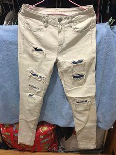二手 刷破牛仔褲有小瑕疵 日本購買 m-xl都適合