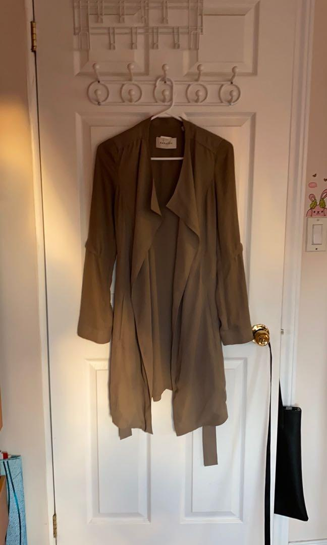 Babaton Army Green Trench Coat