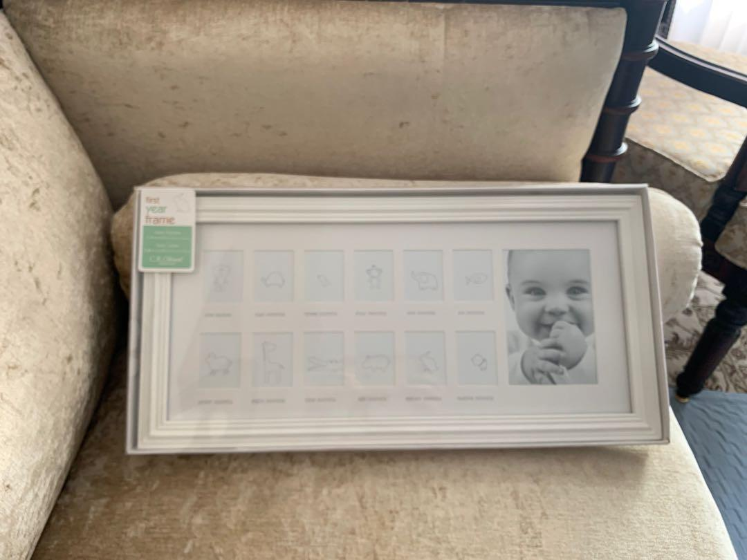 Baby's first year frame