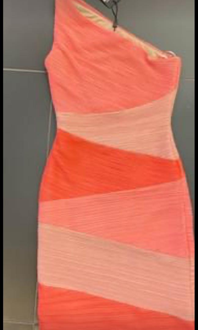 Bcbg pink dress size xs