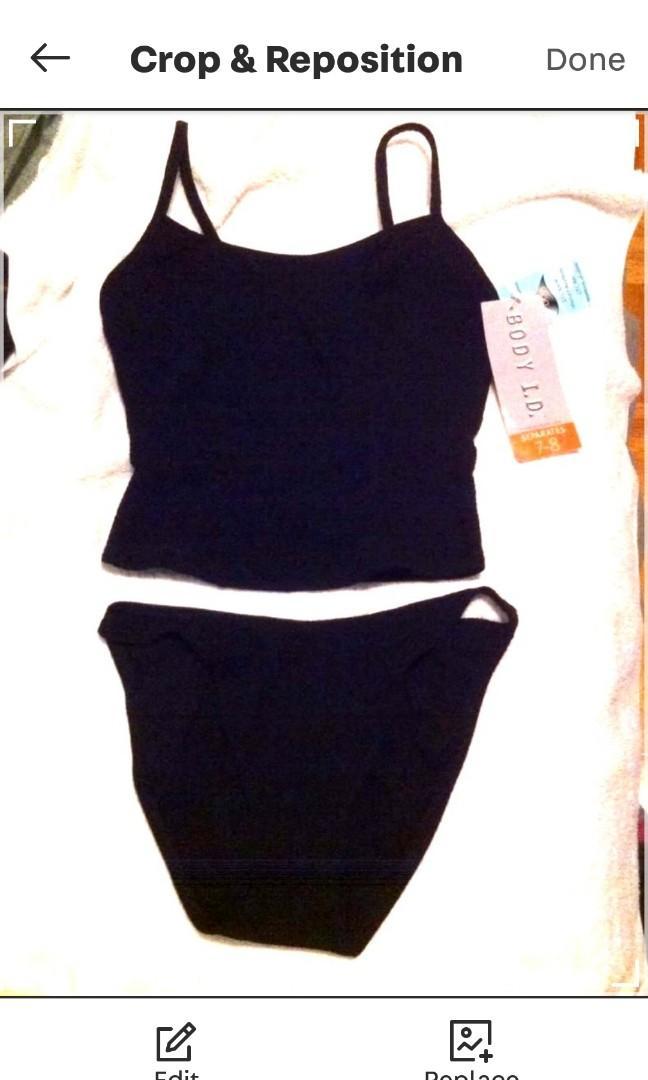 Black Tankini Swim suit bathing suit