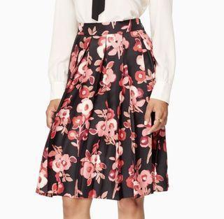 BNWT Kate Spade Floral Pleated Skirt