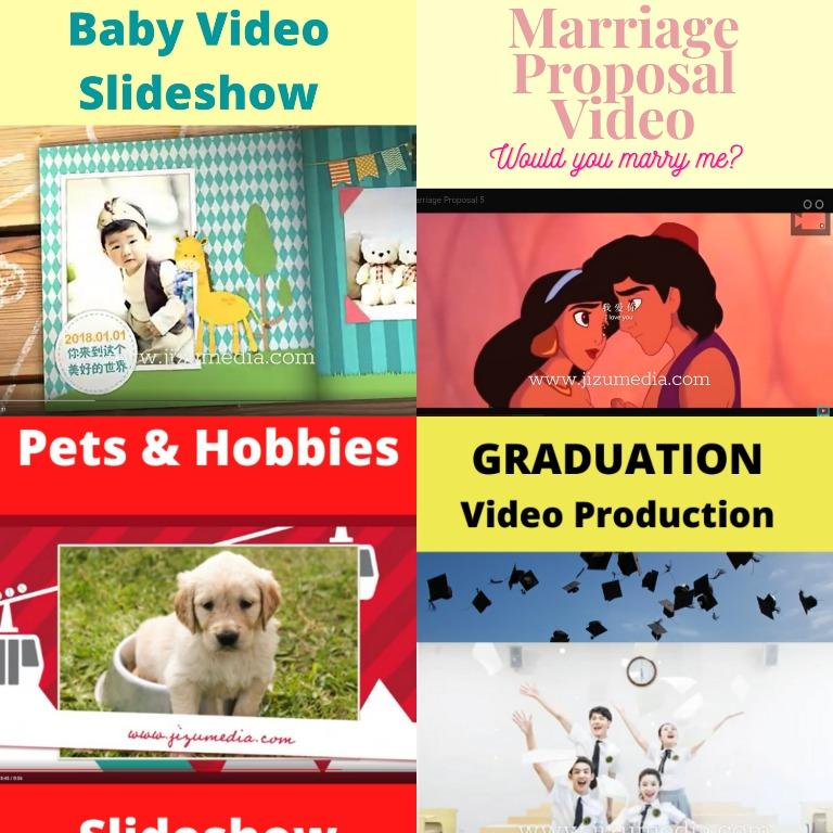 Childhood Wedding Video Montage   Growing Up Photo Montage   Affordable Animated Montage   Video montage   Video Production   Video Slideshow for all occasions