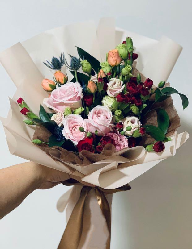 Classic Korean Rose Flower Bouquet Gardening Flowers Bouquets On Carousell