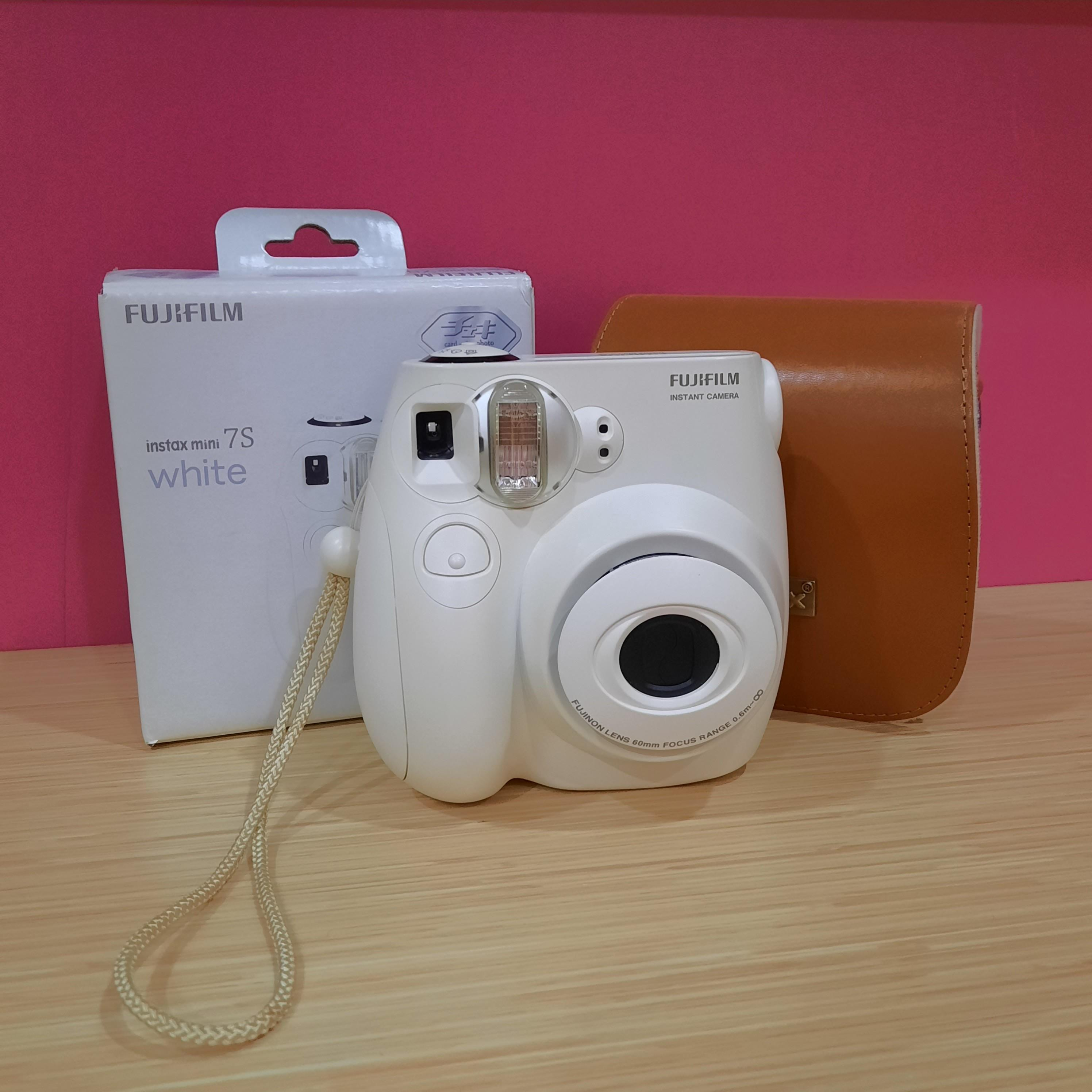 Instax Mini 7S White with Leather Bag (Preloved)