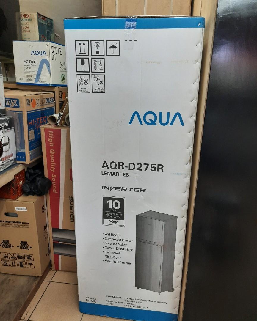 Kulkas Aqua 2 Pintu AQR-D275R Diangsur Tanpa CC