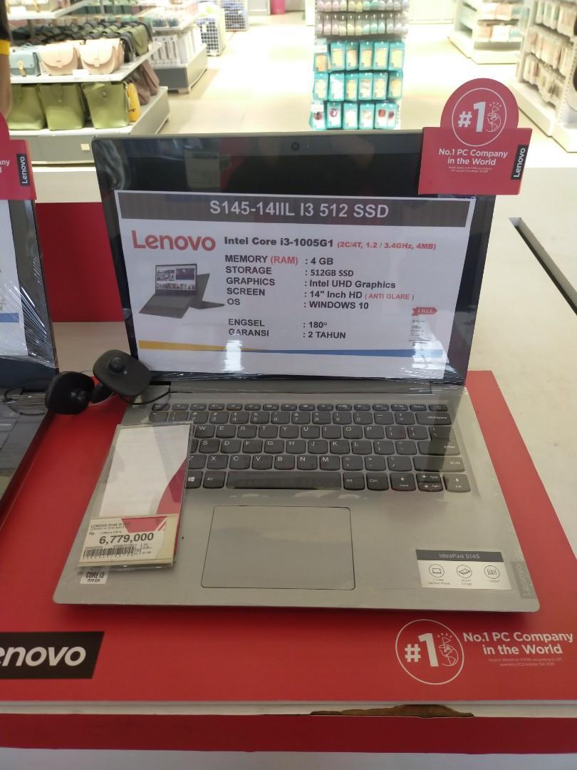 Laptop Lenovo S145 14IIL I3 512 SSD