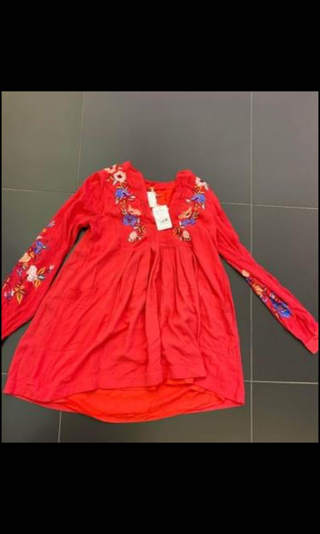 Red dress size xs new