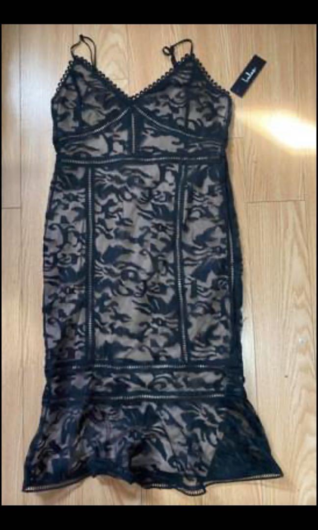 Tan/black dress m