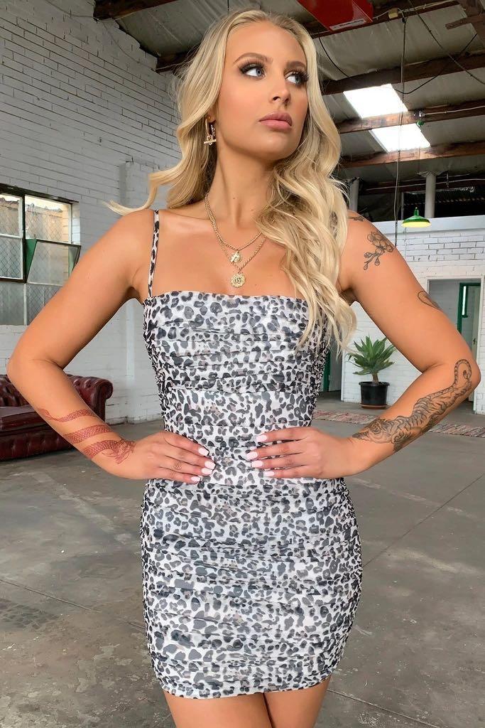 ThatsSoFetch Zena Dress - Leopard