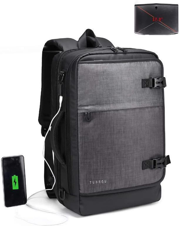 """Tudequ 17.3"""" TSA Travel Laptop Backpack with Dry Wet Separation"""