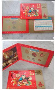 1994 UNC floral series coin set hongbao pack,  2set & 1981 First series marine coin 1 set.(lot of 3set @$65).