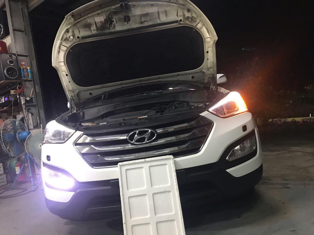 2014年 後 sante fe山土匪 日行燈修理全套大特價車友大回饋限時優惠